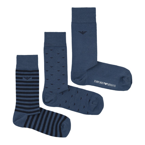 3 Pack Boxed Sock Set Socks Emporio Armani
