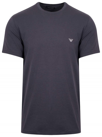 Stretch Cotton Crew Neck T-Shirt in Grey T-Shirts Emporio Armani