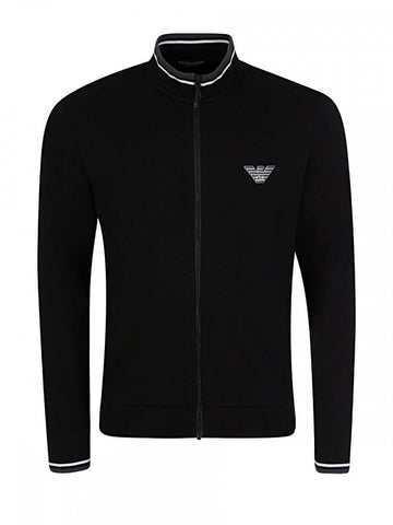 Full Zip Track Top in Black sweatshirt Emporio Armani