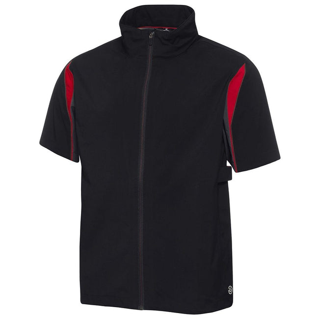 Galvin Green Ali Gore-Tex Paclite Short Sleeve Waterproof in Black / Iron Grey / Red