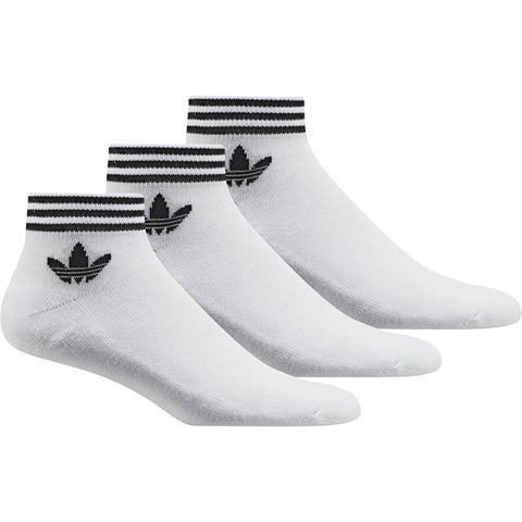 adidas Trefoil Ankle Socks 3-Pack AZ6288 in White Socks adidas