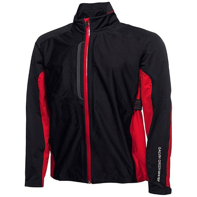 Galvin Green Al Gore-Tex Waterproof C-Knit Jacket in Black / Red