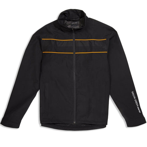 Galvin Green Aldo GORE-TEX Waterproof Golf Jacket in Black / Orange Coats & Jackets Galvin Green