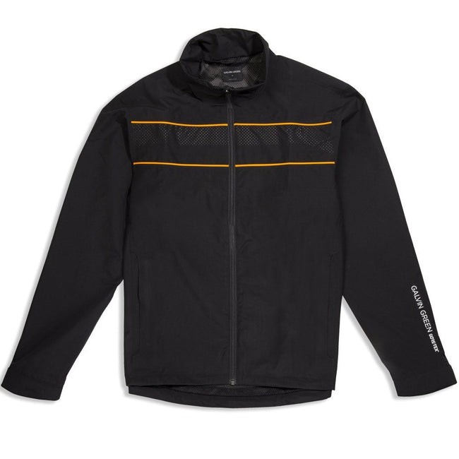 Galvin Green Aldo GORE-TEX Waterproof Golf Jacket in Black / Orange