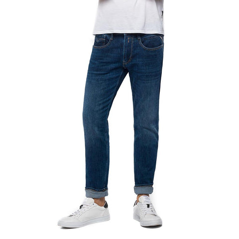 Replay Anbass Slim Fit Jeans in Dark Blue Jeans Replay