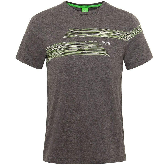 BOSS Athleisure Teep-1 Jersey Tee Shirt in Grey