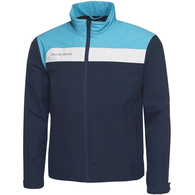 Galvin Green Austin Gore-Tex Waterproof Jacket in Navy / River Blue / Snow
