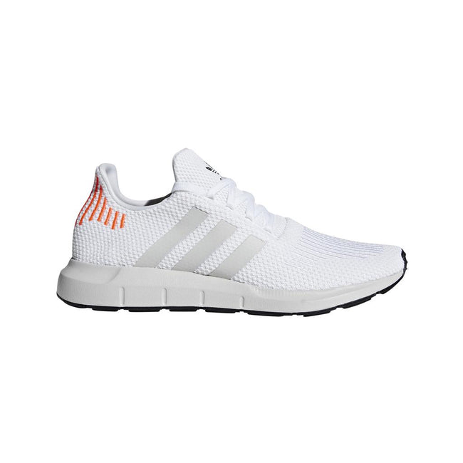 Adidas Swift Run Trainers B37731 in White / Black /Grey Trainers adidas