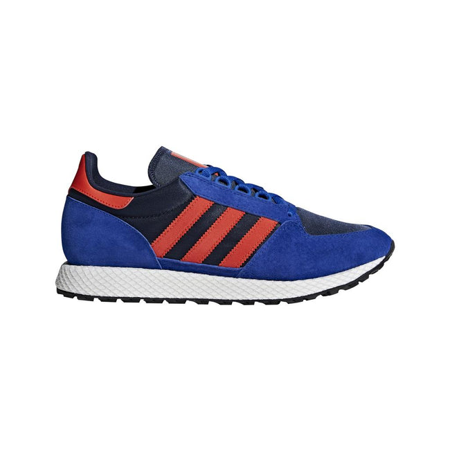 Adidas Forest Grove Trainers B38002 in Power Blue / Hi-Res / Collegiate Navy Trainers adidas