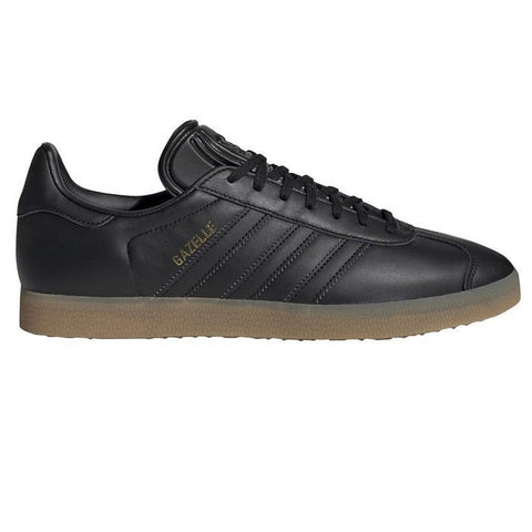 BD7480 Gazelle in Black / Black / Gum Trainers adidas