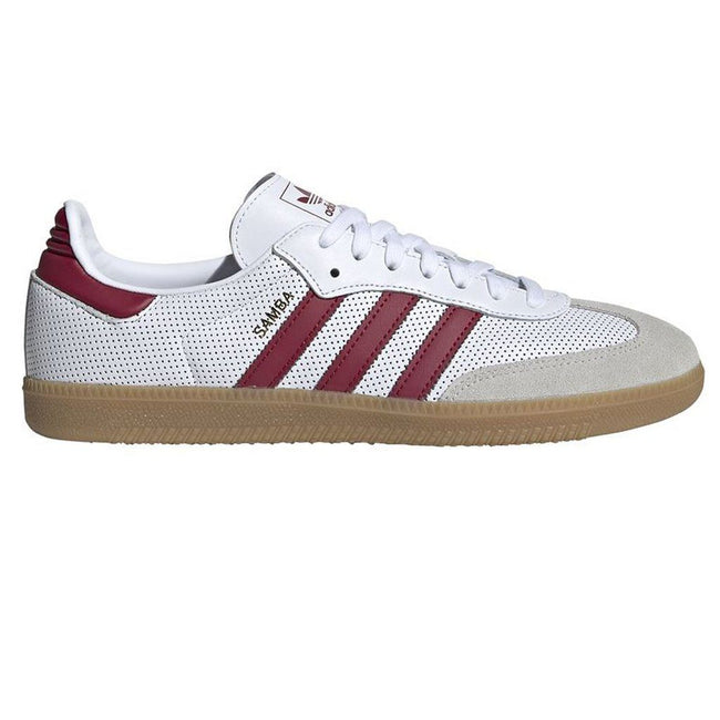 Adidas Samba OG BD7528 Trainer in White / Burgundy Trainers adidas