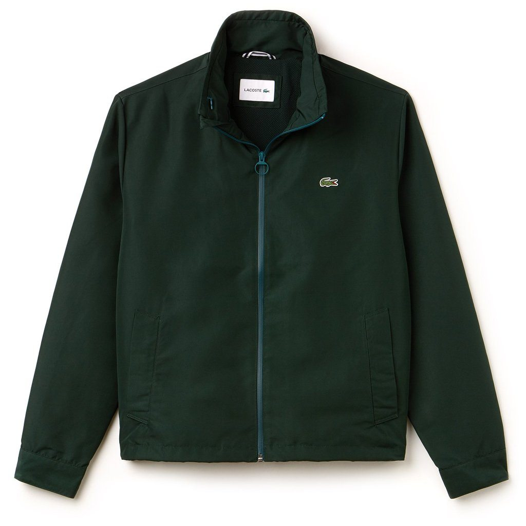 Lacoste BH9193-YZP Zippered Lightweight Taffeta Jacket in Sinople Green