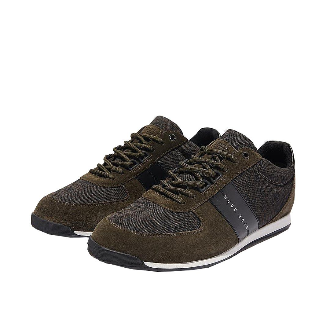 BOSS Athleisure Maze Lowp Knit Trainers in Dark Green Trainers BOSS