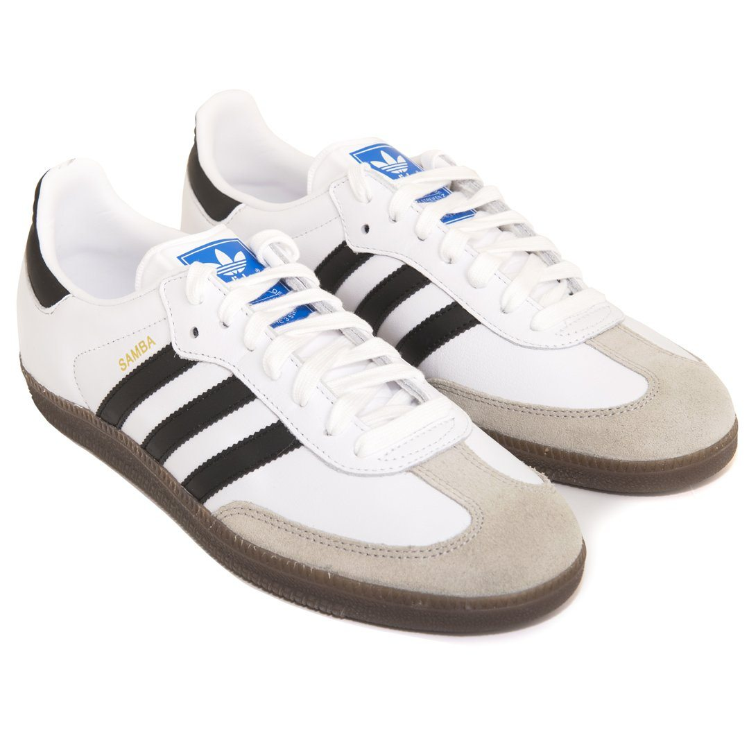 adidas samba og bz0057 in white black gum edwards menswear