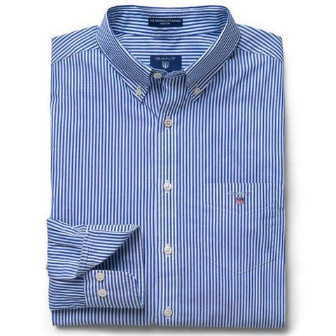Gant The Broadcloth Banker Regular Fit Shirt in College Blue Shirts Gant