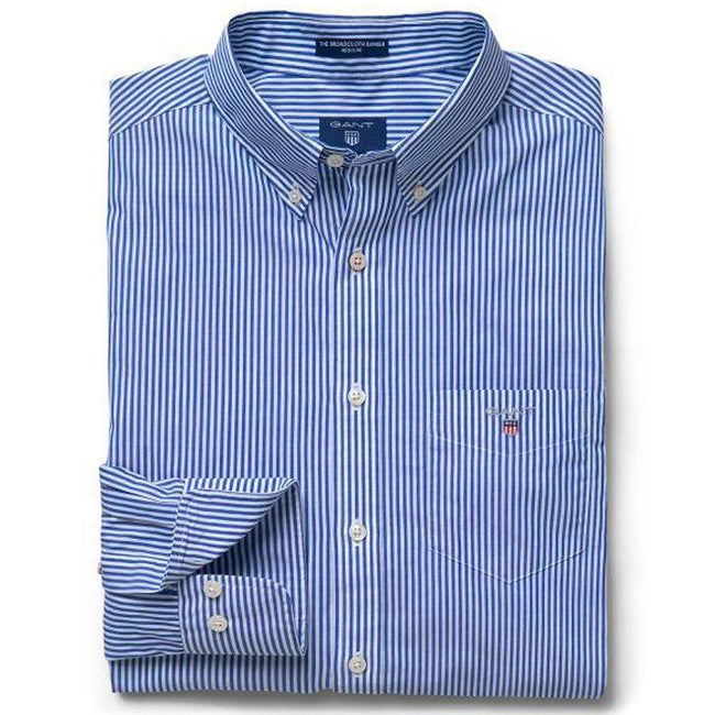 Gant The Broadcloth Banker Regular Fit Shirt in College Blue