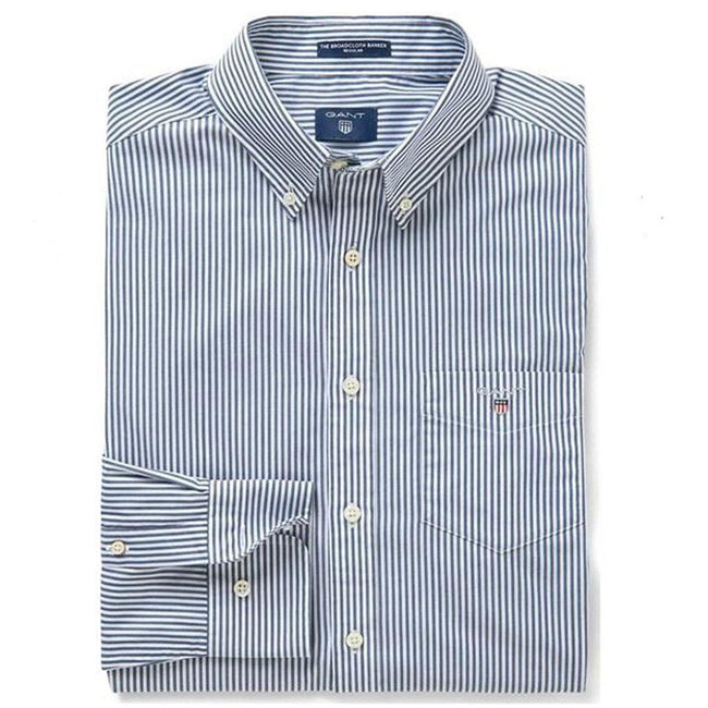 Gant The Broadcloth Banker Regular Fit Shirt in Persian Blue