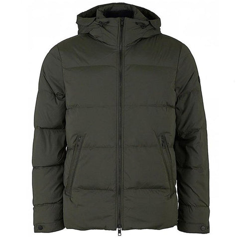 J. Lindeberg Barry Stretch Nylon Jacket in Dark Green Coats & Jackets J. Lindeberg
