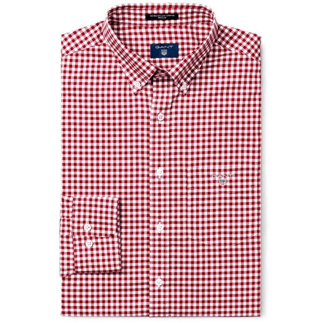 Gant The Original Broadcloth Gingham Shirt in Rhododendron Shirts Gant
