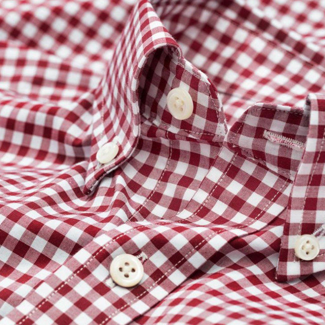Gant The Original Broadcloth Gingham Shirt in Rhododendron