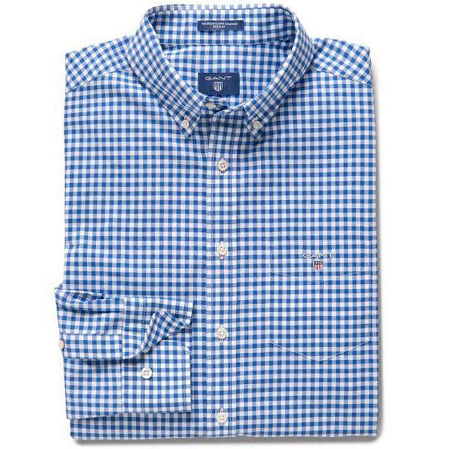 Gant The Broadcloth Gingham in Yale Blue