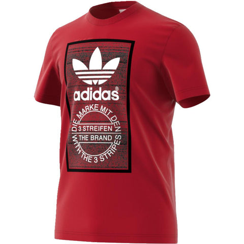 Adidas Traction Tongue Tee CE2244 in Red / Black T-Shirts adidas