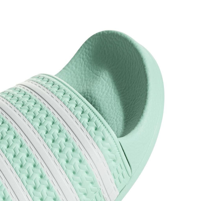 adidas CG6538 Adilette Sliders in Clear Mint/White Shoes adidas
