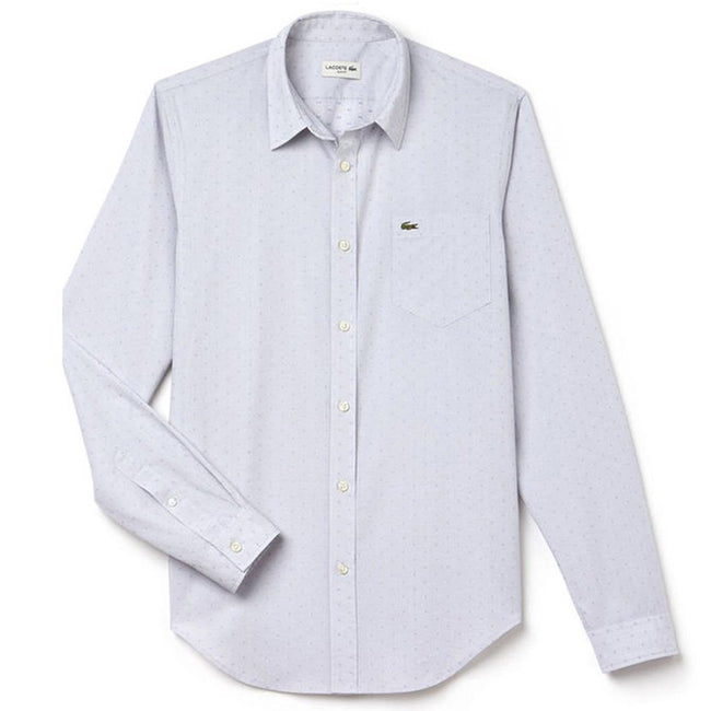 Lacoste Shirt CH3959-VWP in Cailoux/Hysope Shirts Lacoste
