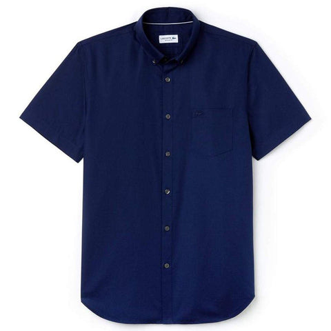 CH9612-423 Regular Fit Short Sleeve Pique Shirt in Navy Shirts Lacoste