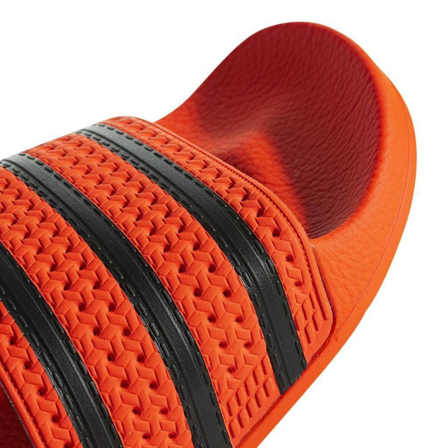 adidas CM8442 Adilette Sliders in Orange/ Black Shoes adidas