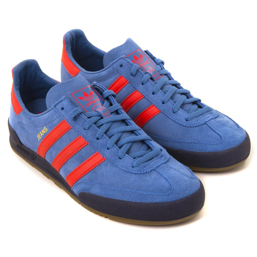 Adidas Jeans CQ2766 in Blue   Red – Edwards Menswear 6e55537fe79d