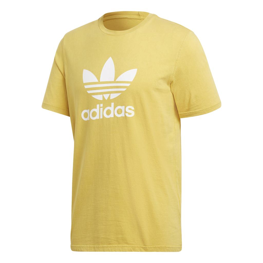 Adidas Trefoil Tee CW0706 in Yellow T-Shirts adidas