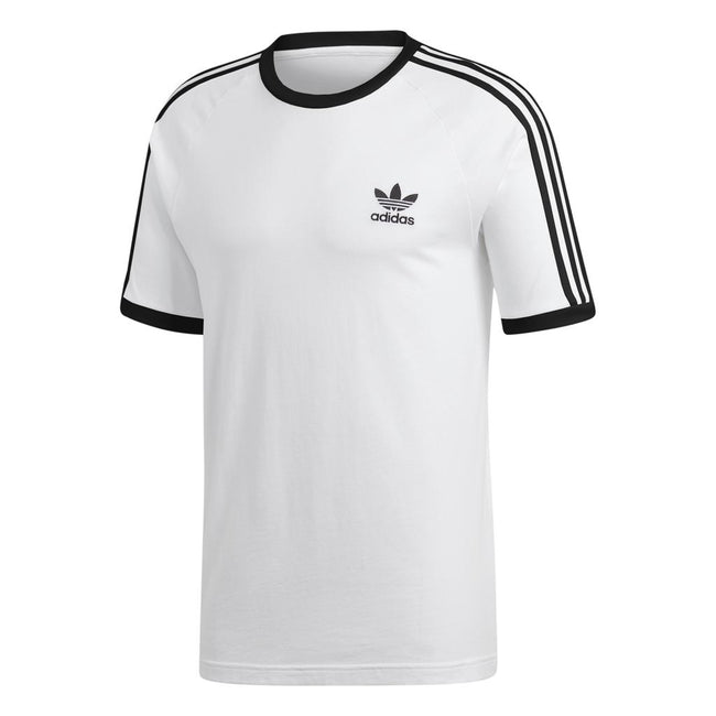 Adidas 3 Stripe Tee CW1203 in White/ Black