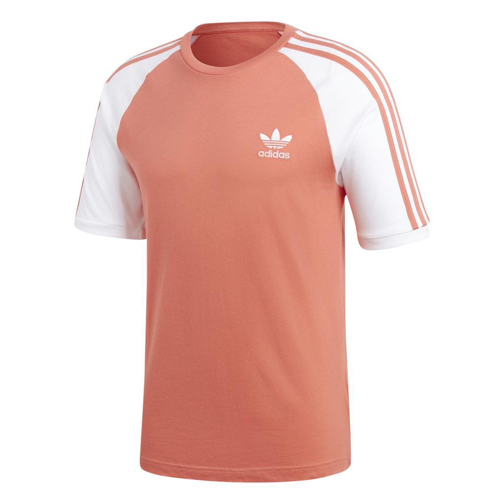 Adidas 3 Stripe Tee CW1204 in Pink Trace Scarlet