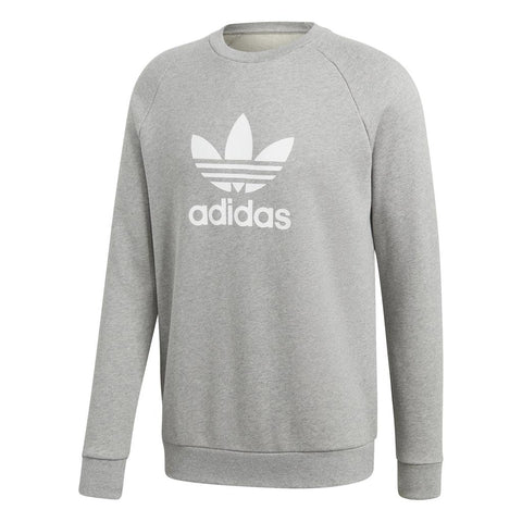 Adidas CY4573 Trefoil Warm-Up Crew Sweatshirt in Mid Grey Jumpers adidas