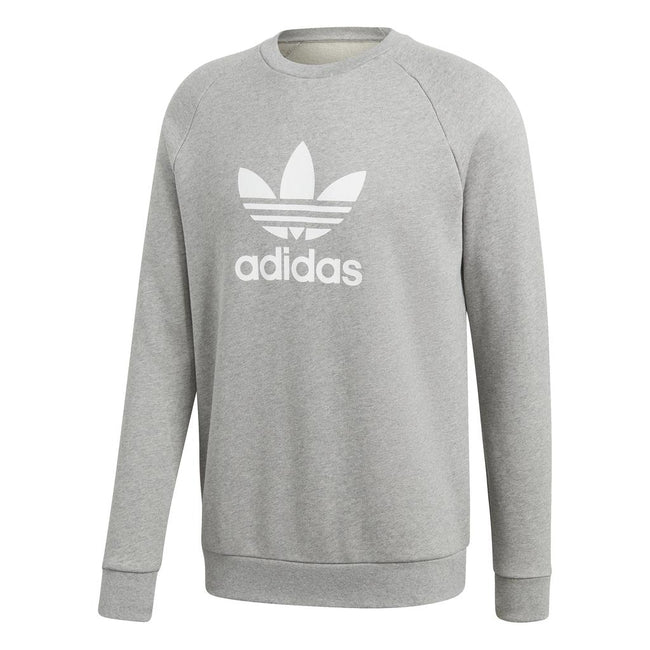 Adidas CY4573 Trefoil Warm-Up Crew Sweatshirt in Mid Grey
