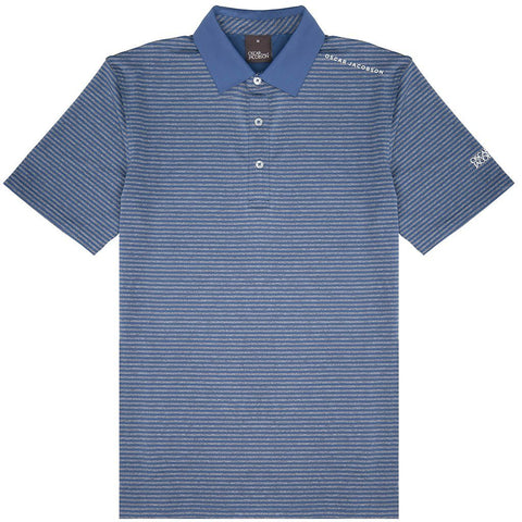 Oscar Jacobson Chester Course Polo Shirt in Blue Grass Polo Shirts Oscar Jacobson