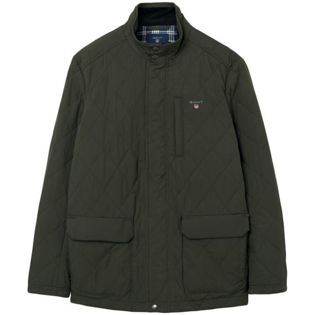Gant The Quilted City Jacket in Country Green
