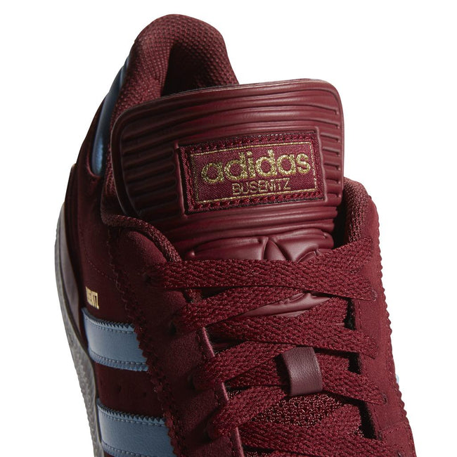 adidas Busenitz DB3124 in Collegiate Burgundy/Clear Blue/FTWR White Trainers Edwards Menswear