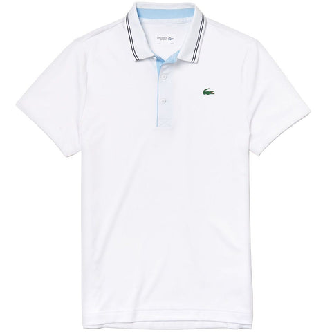 Lacoste Sport DH3360-6QY Stretch Technical Polo in White Polo Shirts Lacoste