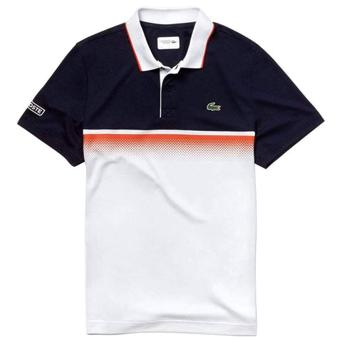DH3448-RLC Shaded Colourblock Pique Polo Shirt in Navy Blue Polo Shirts Lacoste Sport