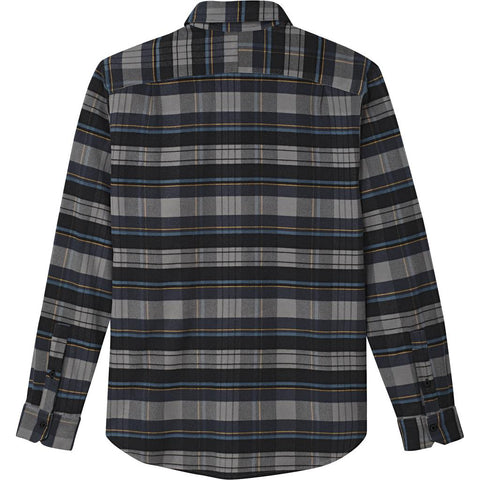 Adidas Flex Flannel Shirt DH3861 in Heather / Navy / Yellow Shirts adidas