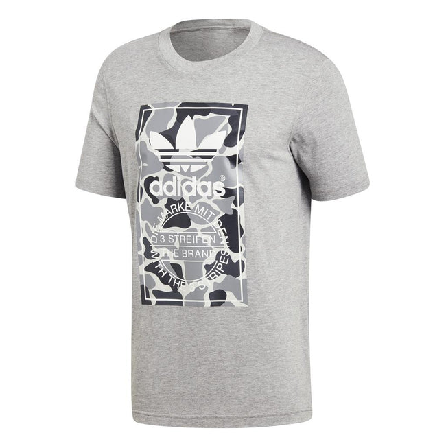 Adidas Camo Label Tee DH4770 in Grey