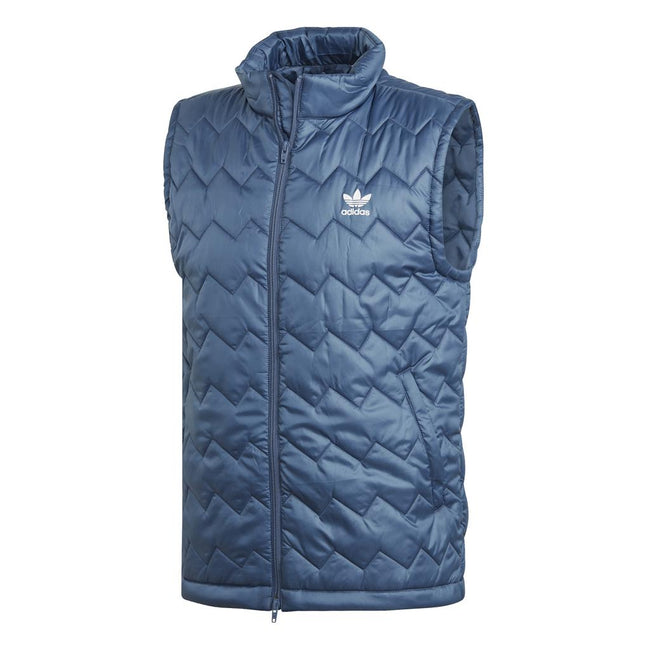 Adidas DH5029 SST Puffy Vest in Blue Tech Ink