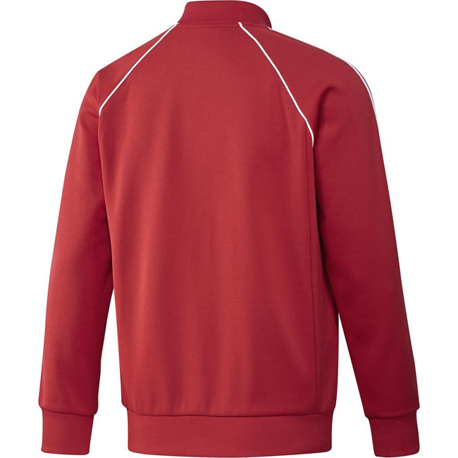 Adidas SST Track Jacket DH5824 in Collegiate Red Jumpers adidas