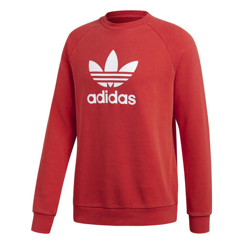 Adidas Trefoil Crew DH5826 in Collegiate Red Jumpers adidas
