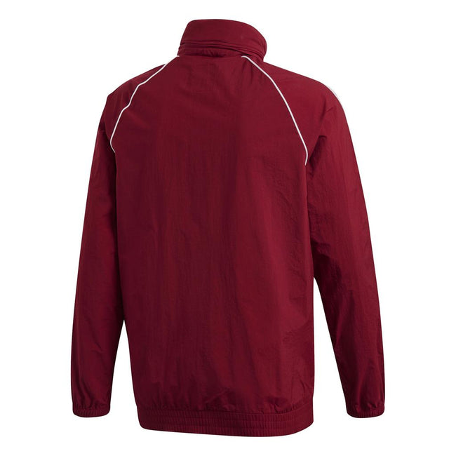 Adidas DH5840 SST Windbreaker in Collegiate Burgandy