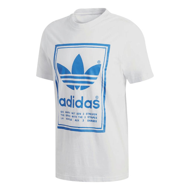 Adidas Vintage Tee DJ2716 in White/Blue