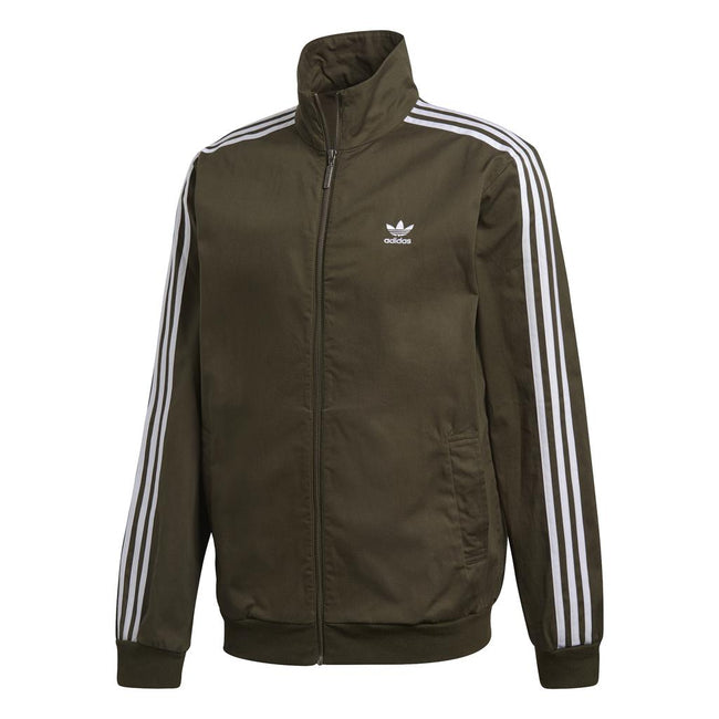 Adidas Woven Track Top DL8640 in Night Cargo Green