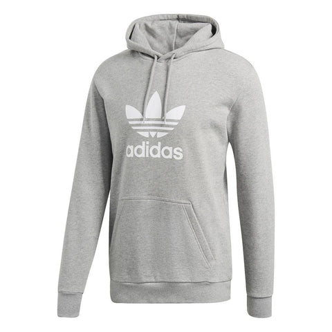 adidas Trefoil Hoodie DT7963 in Medium Grey Heather Hoodies adidas